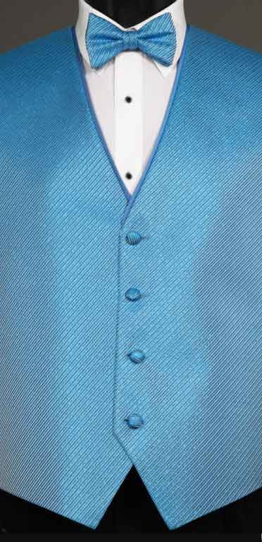 Ocean Metallic Synergy vest with matching bow tie