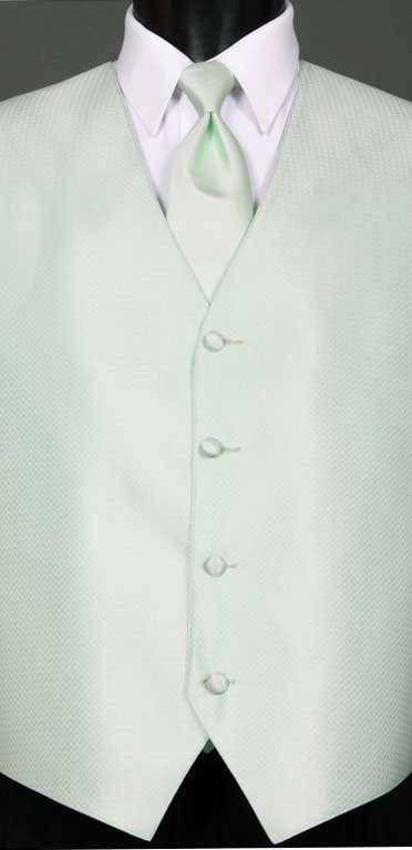 Pistachio Devon vest with Pistachio Simply Solid Windsor Tie