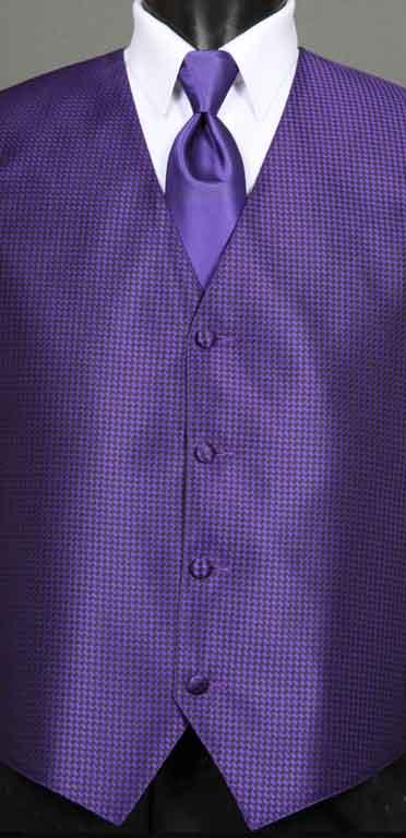 Purple Devon vest with Purple Windsor tie