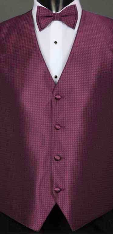 Sangria Devon vest with matching bow tie