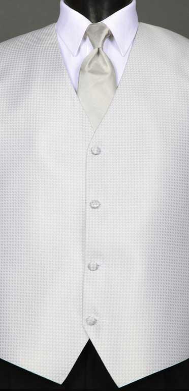Silver Devon vest with Silver Ombre Windsor tie