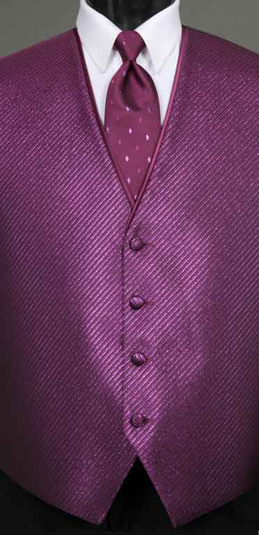 Violetta Metallic Vest from the Synergy collection with Diamond Metallic Windsor tie