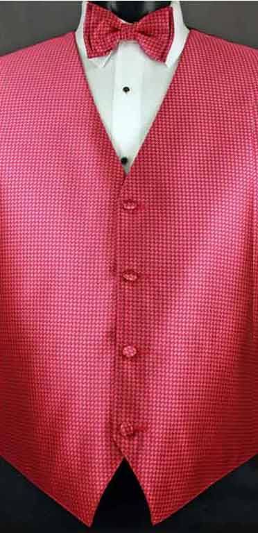 Watermelon Devon vest with matching bow tie