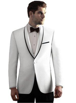 White Waverly dinner jacket with black lapel trim
