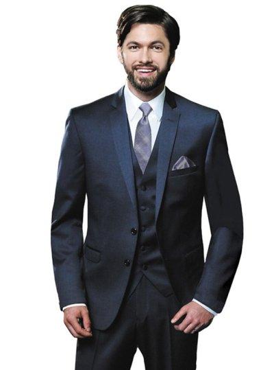 Navy Valencia Suit by Black Label