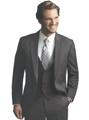 Charcoal Grey Bartlett Suit by Allure For Men