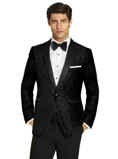 Black Paisley tuxedo by Couture 1910