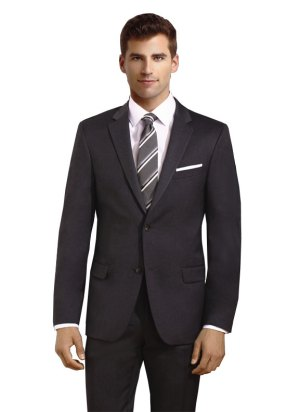Charcoal 2 Button Suit