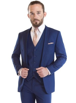 French Blue Riviera Wedding Suit