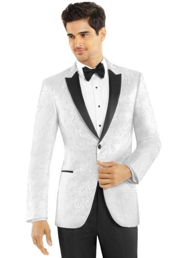 White Paisley Dinner Jacket
