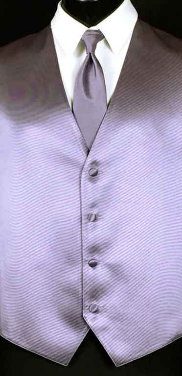 Victorian Lilac Simply Solid Vest with Matching Windsor Tie