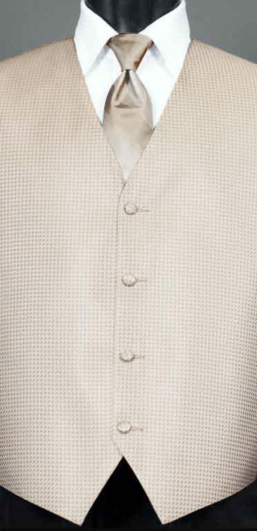 Champagne Devon vest with champagne Ombre Windsor tie