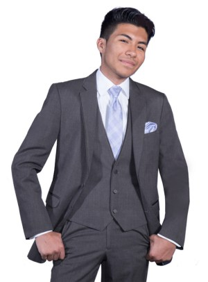 Charcoal Grey Bartlett Suit by Allure Men