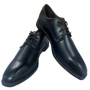 Black Matte lace up dress shoe