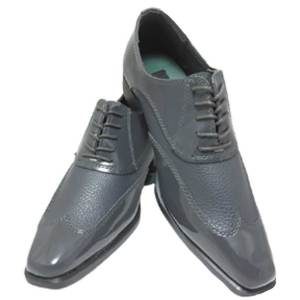The Grey Manhattan Shoe is a lace up style for comfort and stability