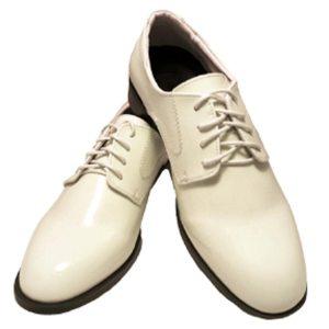 Ivory lace up tuxedo shoes
