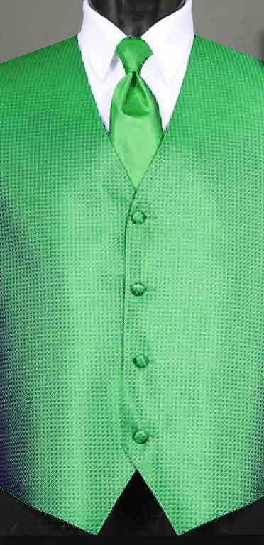 Kelly Green Devon vest with Kelly Green Windsor tie