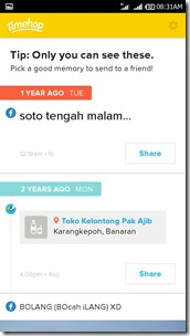 Review Timehop aplikasi mesin waktu di Android Tuxlin Blog11
