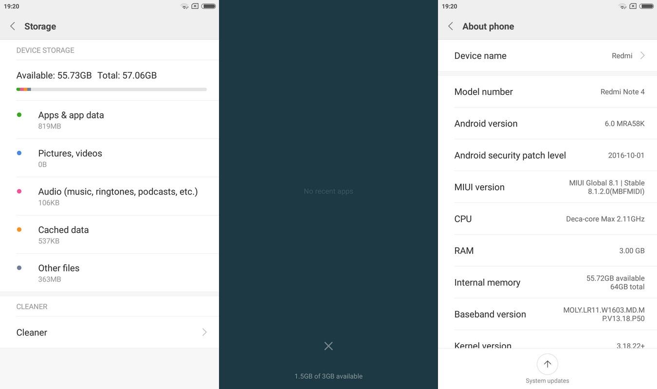 Memori Xiaomi Redmi Note 4
