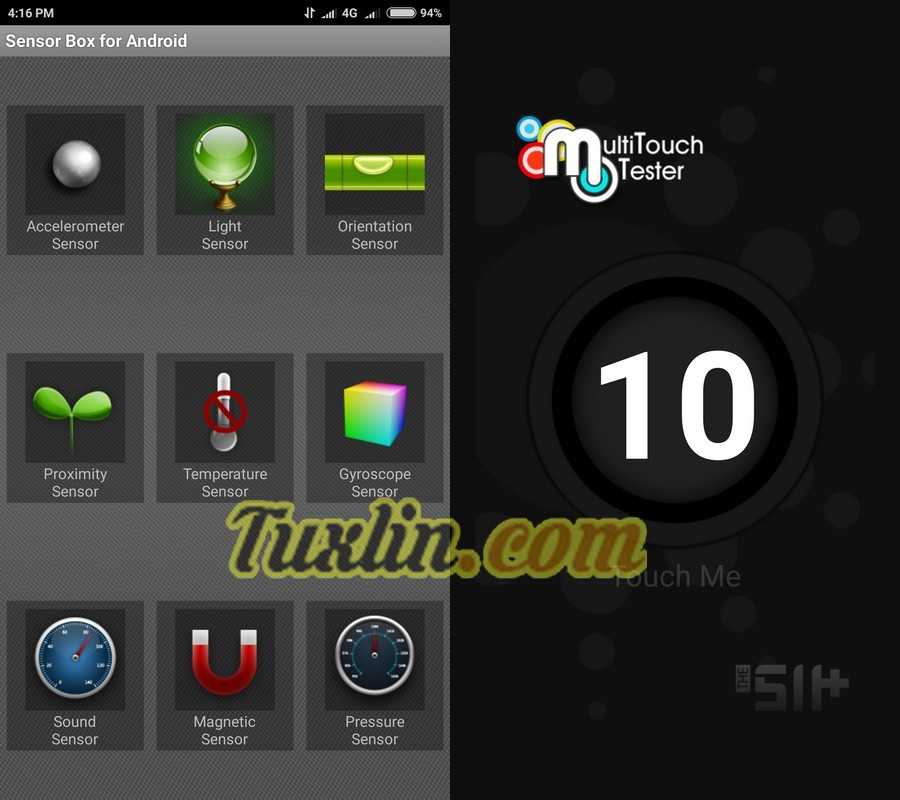 Sensorbox for Android & Multitouch Tester Xiaomi Mi5