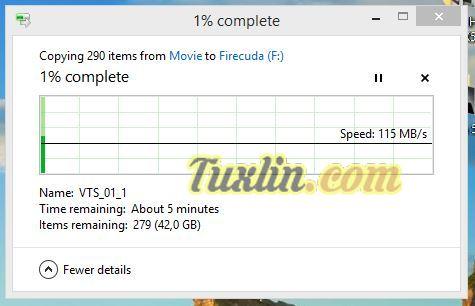 Transfer Rate Seagate Firecuda 2TB SSHD
