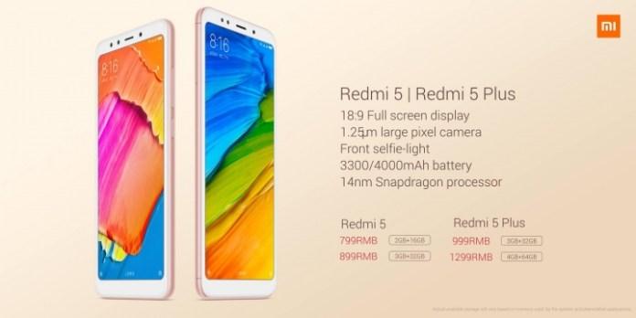 Xiaomi Redmi 5 dan Redmi 5 Plus