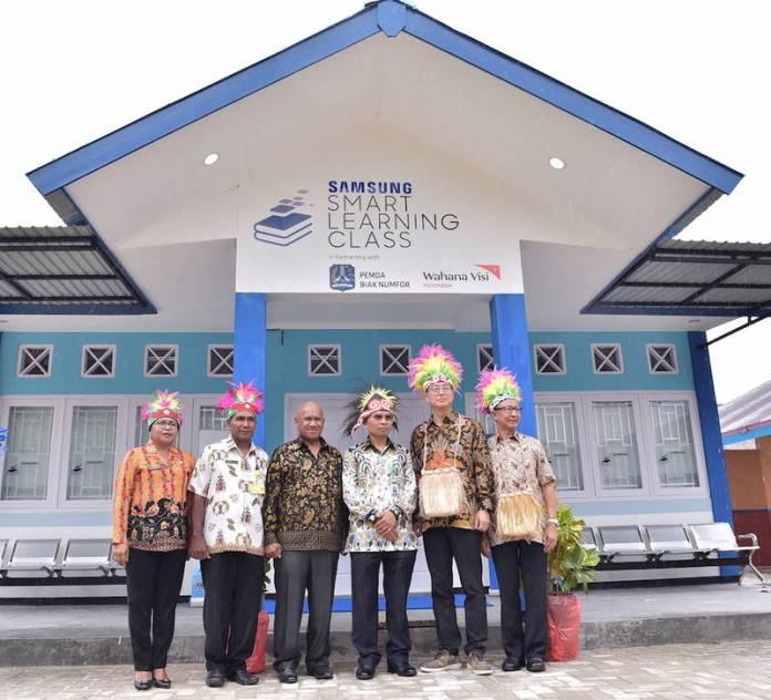 Samsung Smart Learning Class (SSLC), Sekolah Berbasis Teknologi Dibuka di Biak Papua 1