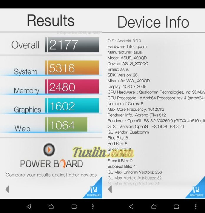 Benchmark Basemark OS II Asus Zenfone 5 ZE620KL
