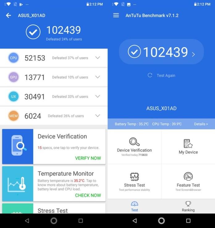 Benchmark AnTuTu 7.1.2 Asus Zenfone Max M2