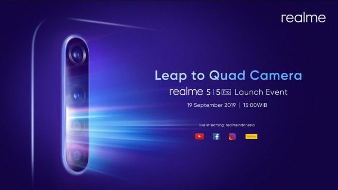 Realme 5 dan Realme 5 Pro dengan Quad Camera Dipastikan Masuk Indonesia 1