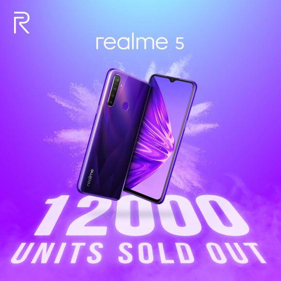 Realme 5 Ludes Terjual 12.000 Unit di Flash Sale Perdana 2