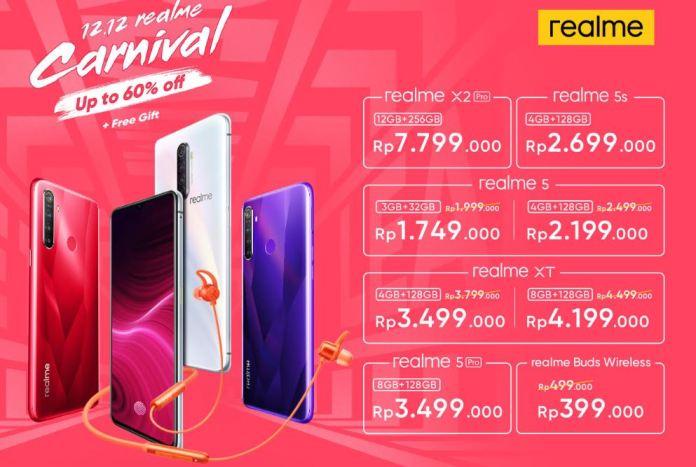 12.12 Realme Carnival, Tawarkan Diskon Hingga 60% di Harbolnas 1