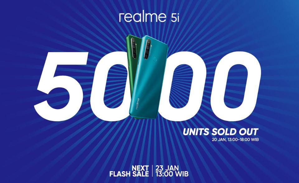 Realme 5i & Realme Buds Air TWS Ludes di Flash Sale Perdana! 1