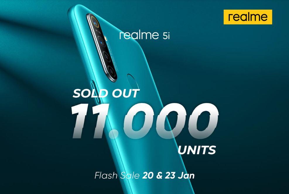 Dua kali Flash Sale, Realme 5i Terjual 11 Ribu Unit 1