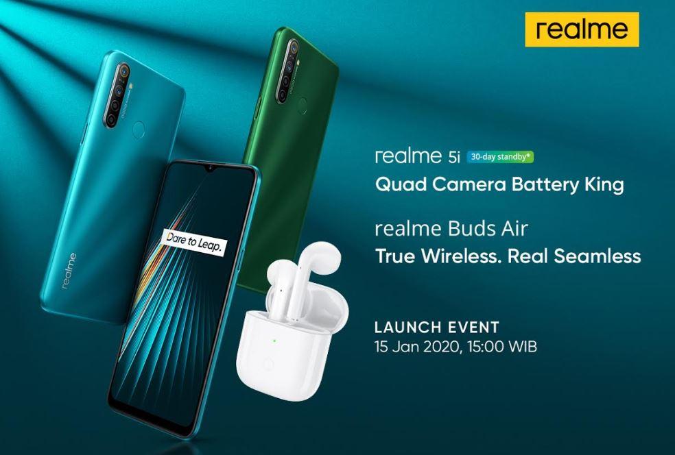 Realme 5i dan Realme Buds Air Dipastikan Masuk Indonesia 1