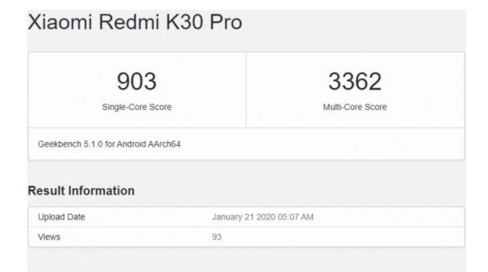 Muncul di Geekbench, Xiaomi Redmi K30 Pro Ditenagai Snapdragon 865? 1
