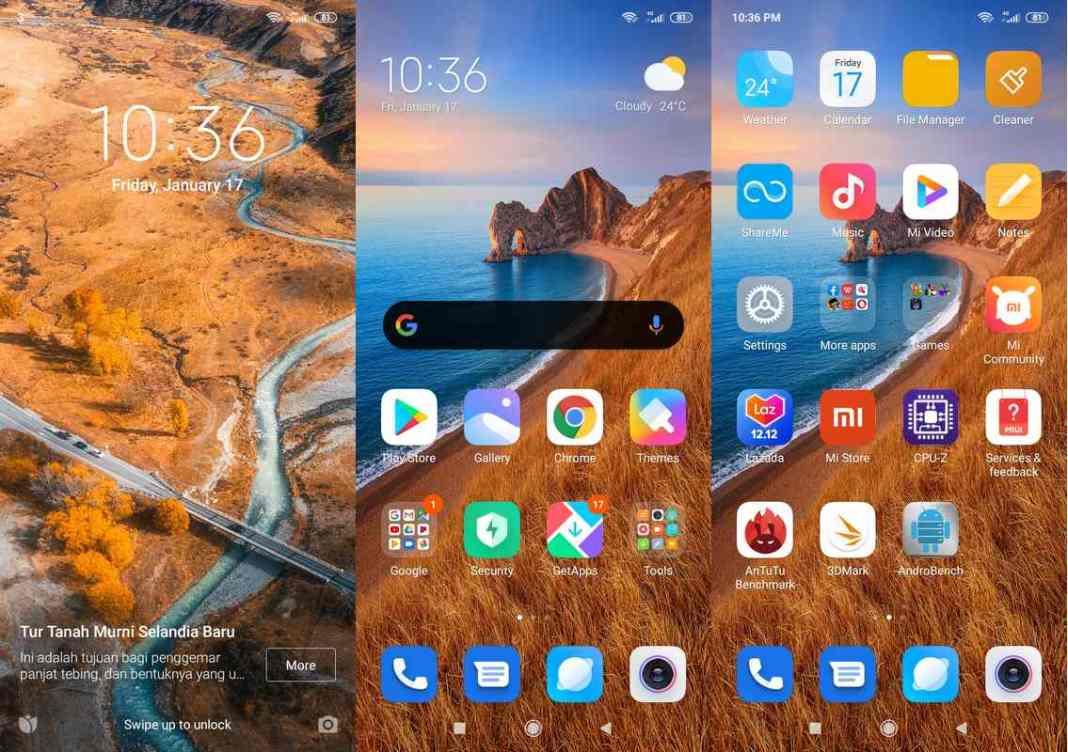 Antarmuka & Fitur Xiaomi Redmi 8A