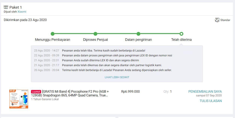 Beli Poco F2 Pro Pas Xiaomi 10th Anniversary Sale, Tapi Nggak Dapat Mi Band 4 3
