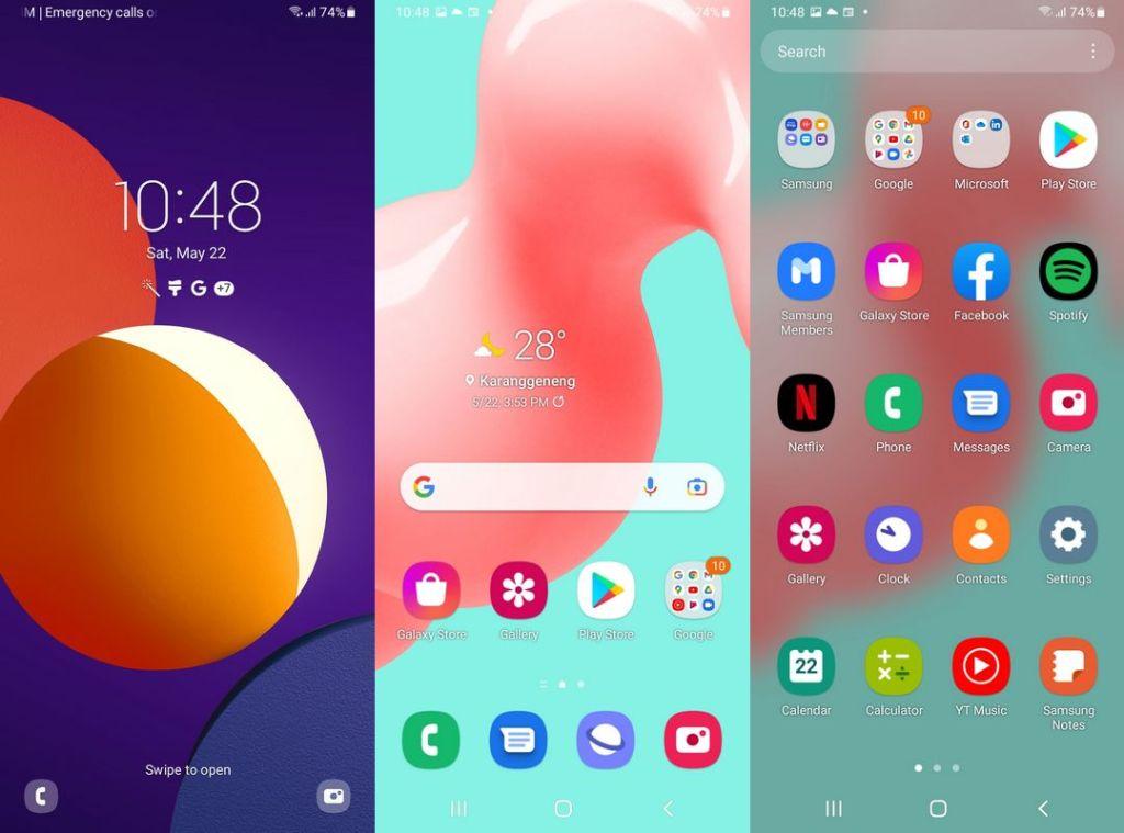 Antarmuka & Fitur Samsung Galaxy M12
