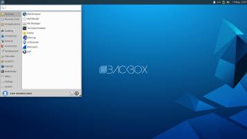 BackBox Linux 7, Xfce, Desktop.