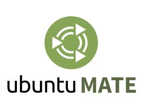 Il logo di Ubuntu MATE come derivata ufficiale di Ubuntu.