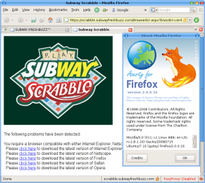 Subway Doesn't Like Linux