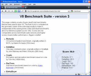 V8 Benchmark-Opera 9.6