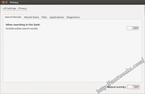 Ubuntu Privacy Settings