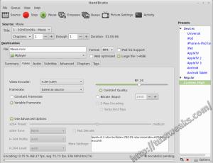 Re-encoding the file with Handbrake
