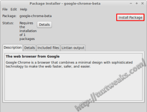 Install Chrome Beta Linux