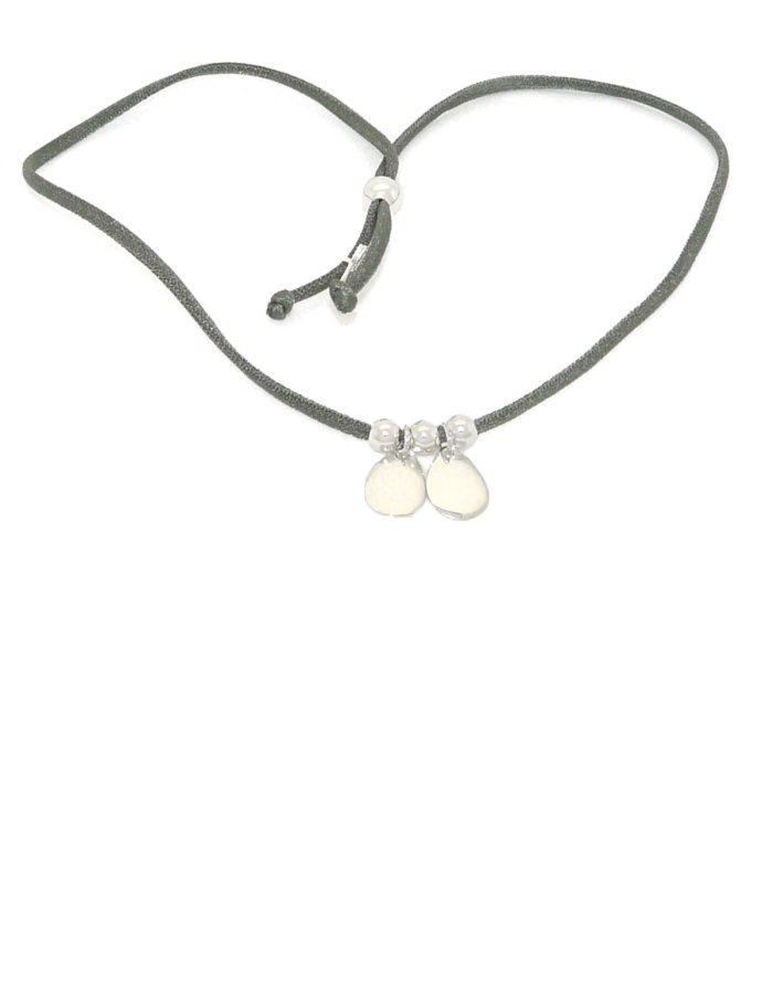 Pulsera / collar gotas plata