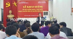 Khai giảng lớp bồi dưỡng quản lý nhà nước ngạch chuyên viên, chuyên viên chính