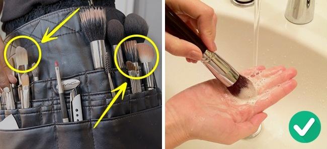 Redovno prati četkice za šminkanje