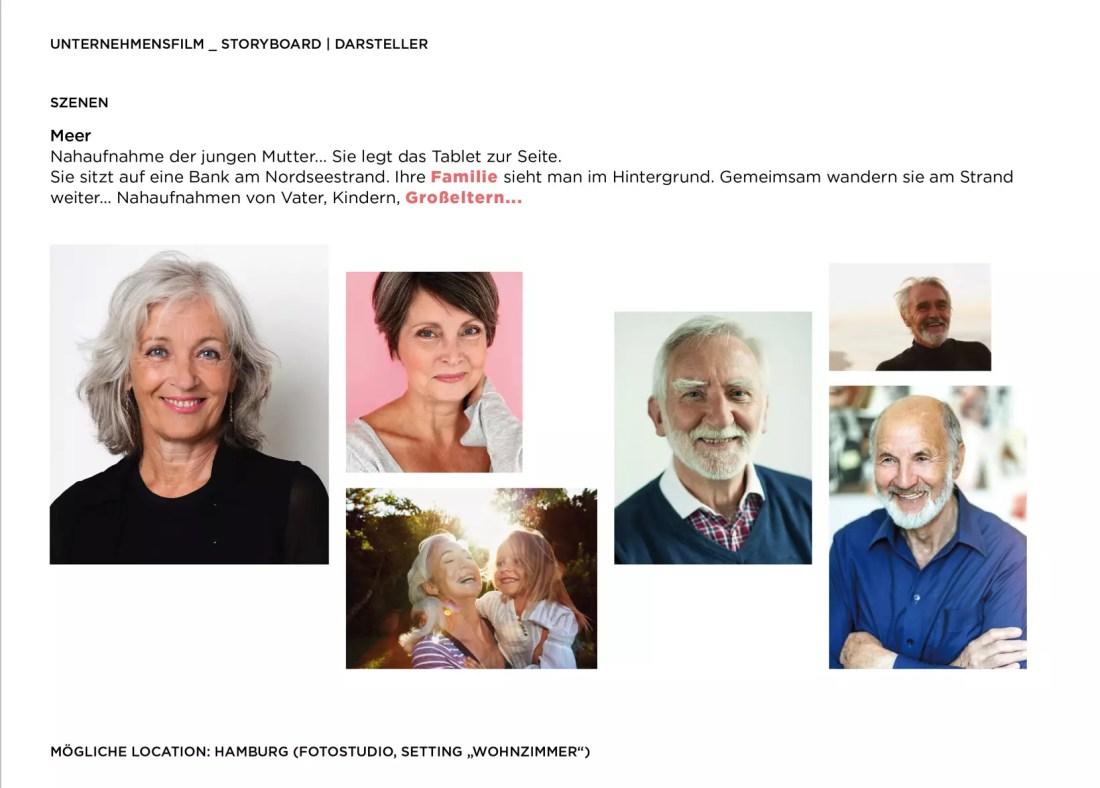 Darsteller Unternehmensfilm Großeltern Casting
